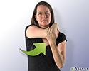 Stretching back of your shoulder