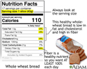 Food label guide for whole wheat bread